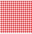 Red-white tablecloth pattern vector image vector image