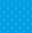 running man pattern seamless blue vector image