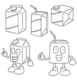 set of beverage box vector image vector image