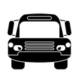silhouette bus public transport city front view vector image vector image
