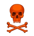 skull and crossbones cartoon vector image vector image