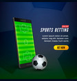sports betting online web banner concept mobile vector image vector image