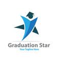 star graduation logo designs vector image