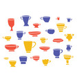 tea a set of cups vector image vector image