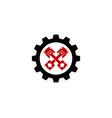 tool automotive logo icon design vector image vector image