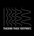 tracking human footprints to track walk paths vector image