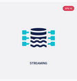 two color streaming icon from big data concept vector image vector image