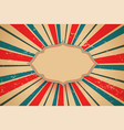vintage retro background with sunburst rays design vector image vector image