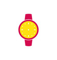 watch flat icon isolated clock vector image