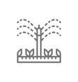 watering irrigation sprinklers agriculture vector image