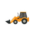yellow tractor with bucket front-end loader vector image