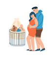 young family young parents expecting childbirth vector image vector image