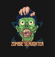 zombiezombie slaughter graphic vector image vector image