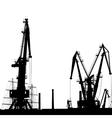 Port Crane Silhouette vector image