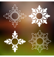 Abstract floral design elements vector image