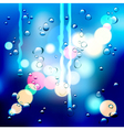 drops on the glass vector image