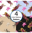 Four seamless pattern with crabs and starfish vector image