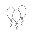 a ball birthday icons vector image