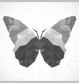 abstract butterfly of triangles vector image
