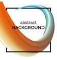 abstract composition of the watercolor wave vector image vector image
