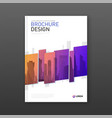annual report brochure cover design layout vector image vector image