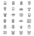 Award and Medal Line Icons 1 vector image