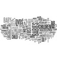 baby box office text word cloud concept vector image vector image