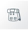 backpack icon line symbol premium quality vector image