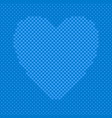 blue heart shaped background from hearts vector image vector image