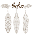 Bohemian Arrow Hand drawn Amulet Boho with henna vector image vector image