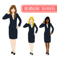 business woman thumb up vector image vector image