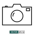 camera icon symbol flat design isolated on white vector image vector image