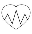 Cardiogram heart icon outline style vector image vector image