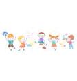 cartoon children doing different activities vector image