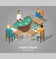 casino online blackjack game vector image vector image