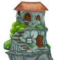 Cave house vector image