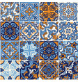 ceramic tile with colorful patchwork in spanish vector image