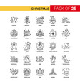 christmas black line icon - 25 business outline vector image