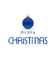christmas card with blue typography and snow vector image vector image