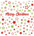 christmas greeting card with stars pattern vector image vector image