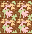 clover seamless pattern in pastel colors vector image vector image