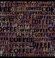 coffee abstract coffee pattern on brown vector image