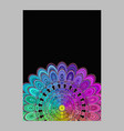 Colorful abstract flower mandala page background vector image
