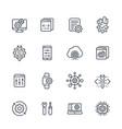 development hardware settings line icons set vector image vector image