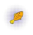 Dry fish icon comics style
