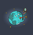 earth missile painted like the lipstick vector image vector image