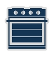electric stove isolated icon design vector image vector image