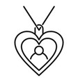emblem heart affection icon outline style vector image vector image