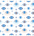 evil eye seamless pattern magic talisman and vector image