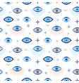 evil eye seamless pattern magic talisman vector image